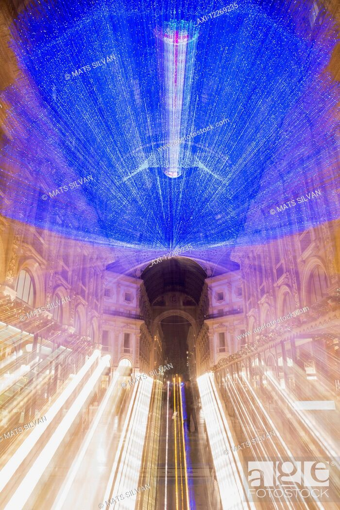 Stock Photo: Galleria Vittorio Emanuele II; Milan, Lombardy, Italy.