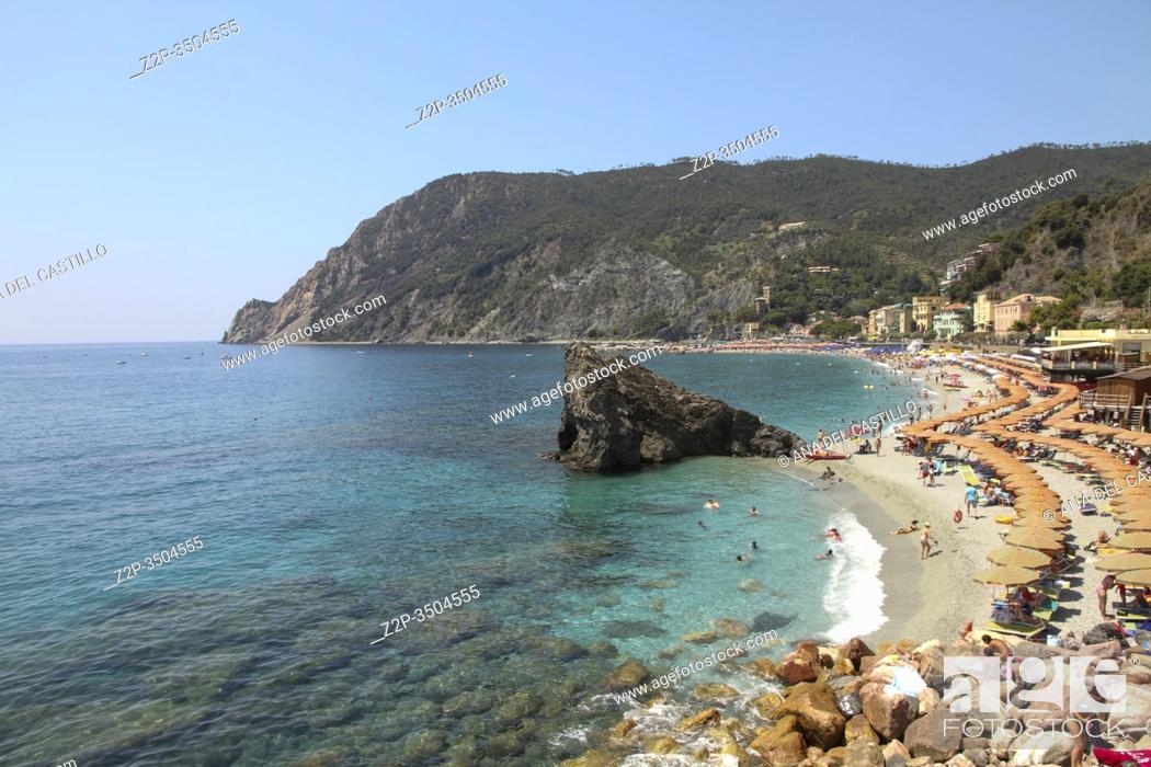 Stock Photo: Ligurian coast in Monterosso al Mare Cinque Terre La Spezia Italy.
