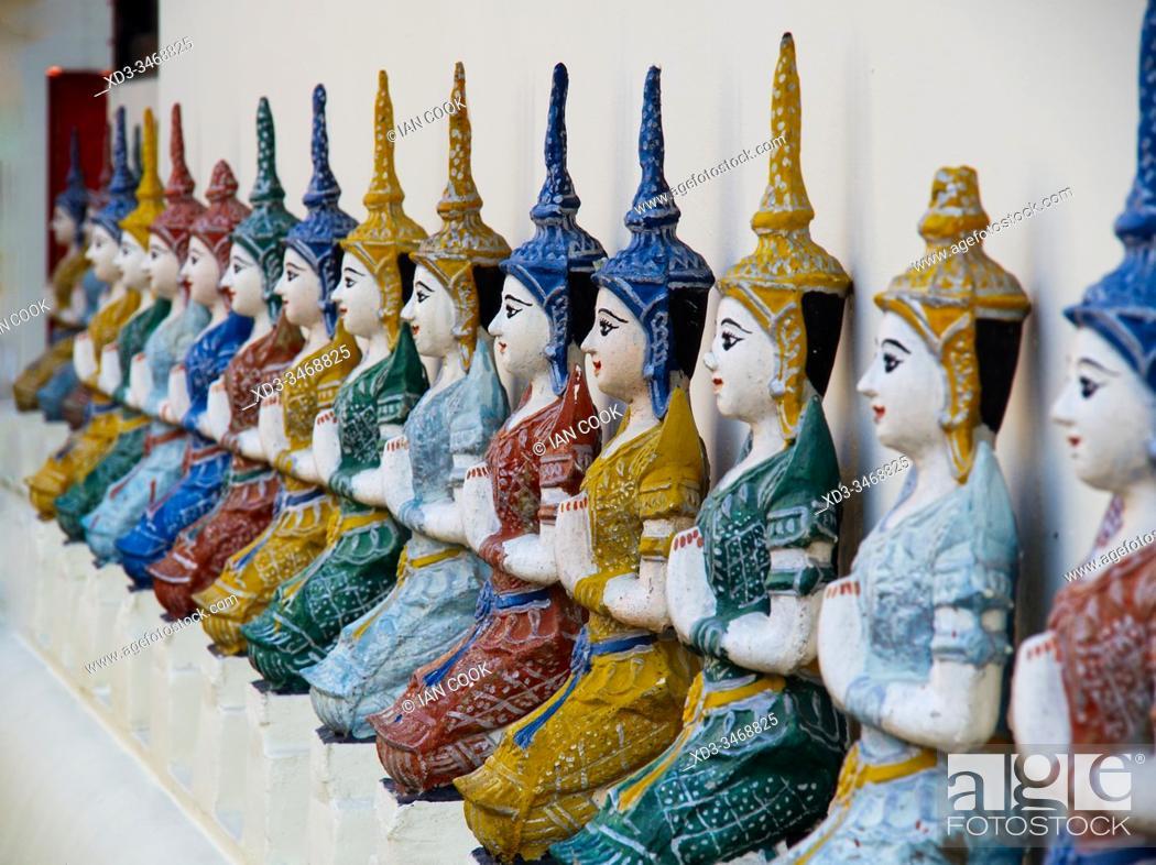 Stock Photo: china dolls, Wat Muen Ngoen Kong, Chiang Mai, Thailand.