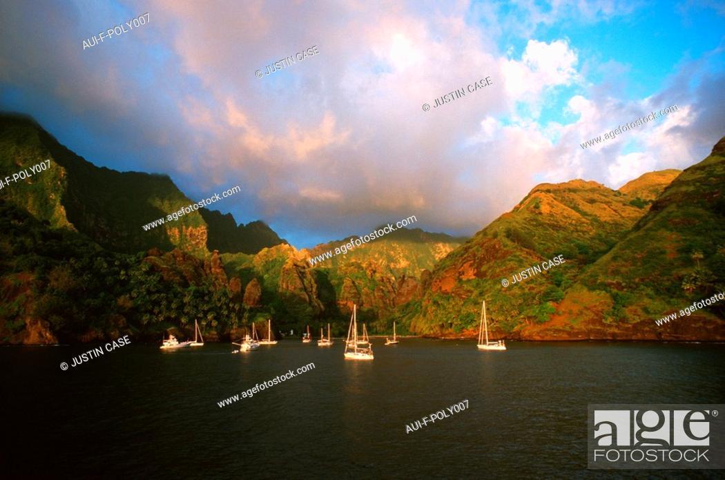 Stock Photo: French Polynesia - Marquises islands - Hiva - Oa.