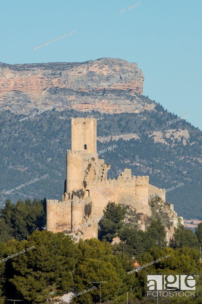 Stock Photo: Castle, Almansa, Albacete province, Castilla-La Mancha, Spain.
