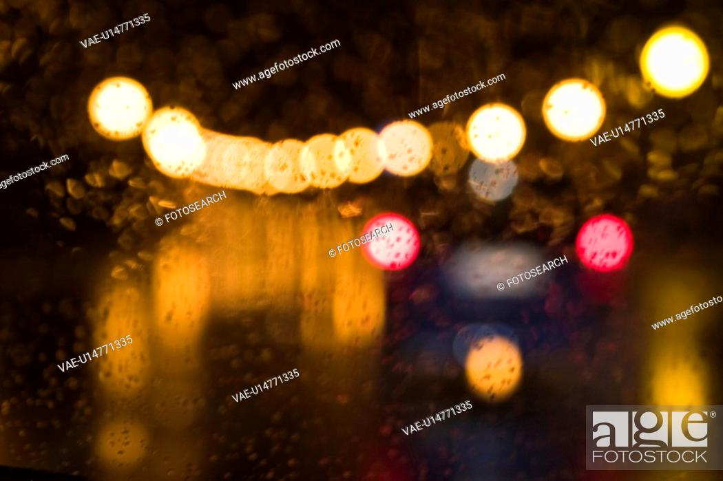 Stock Photo: orange, lights, circles, dots, pattern, design.
