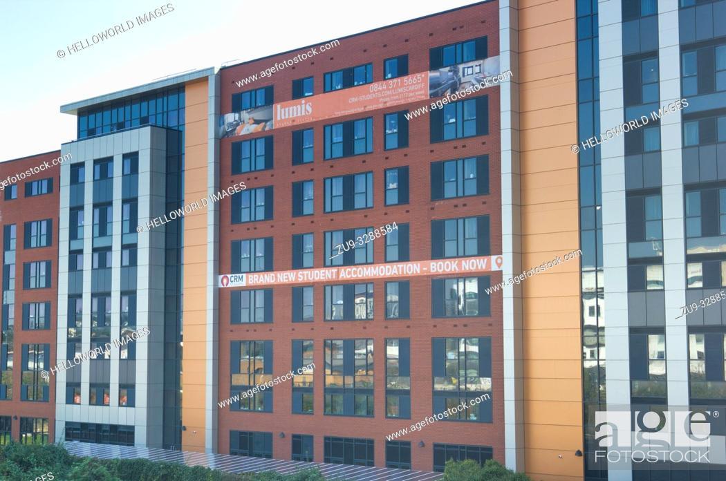 Stock Photo: New student accommodation, Cardiff, wales, United Kingdom.