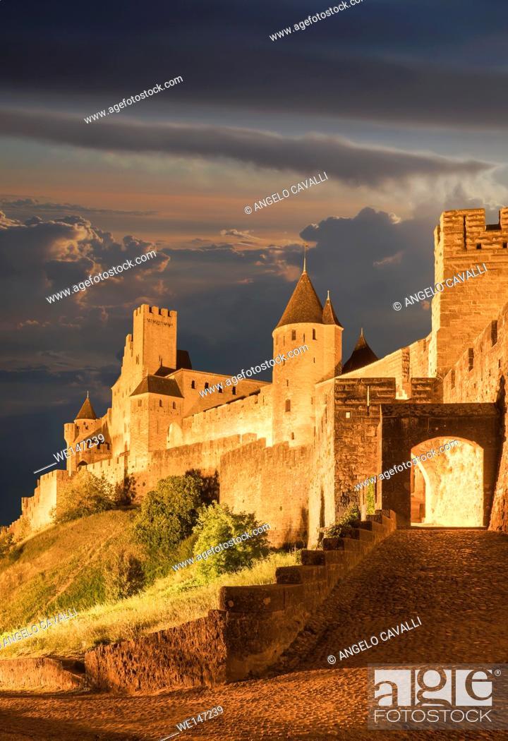 Photo de stock: Carcassonne, France.