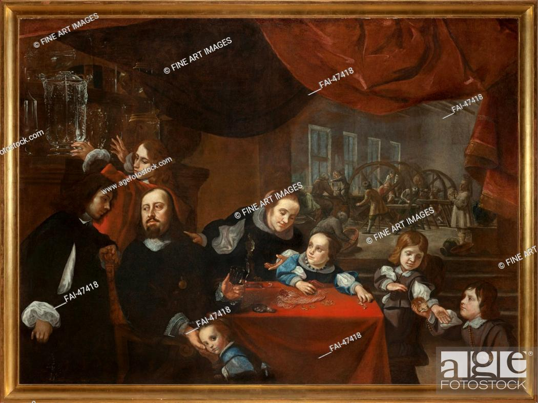 Stock Photo: Dionysio Miseroni (1607-1661) and his Family by Skreta, Karel (1610-1674)/Oil on canvas/Baroque/c. 1653/Czechia/National Gallery.