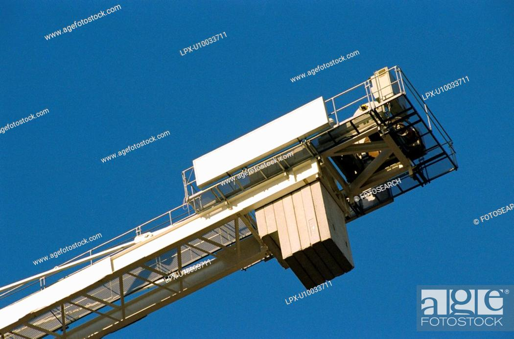 Stock Photo: Rear of a tower crane.