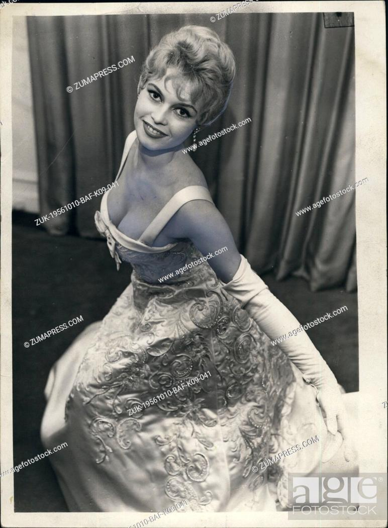 Oct 10 1956 Brigitte Bardot Wears Pound1000 Dress For