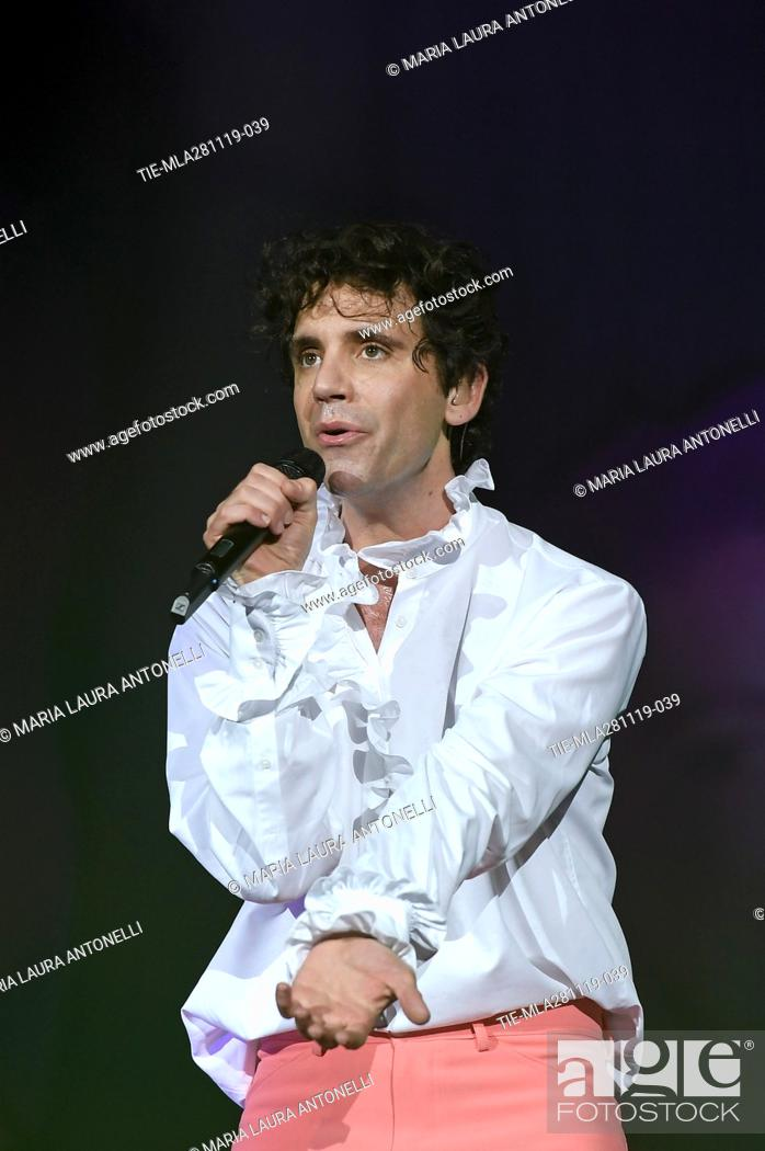 Stock Photo: Mika in concert at the Sport Palace, Rome, ITALY- 27-11-2019.