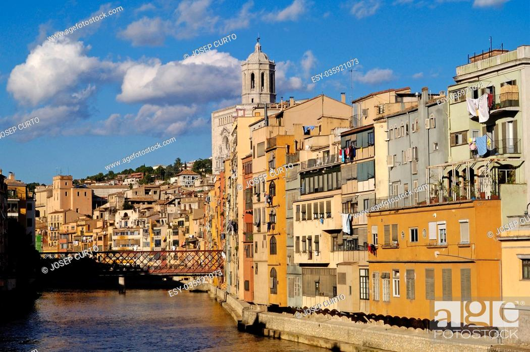 Imagen: River and Cathedral, Girona, Spain.