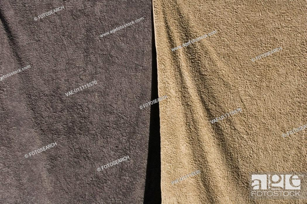 Stock Photo: Beige, Close-Up, Clothes, Drying, Fabric.