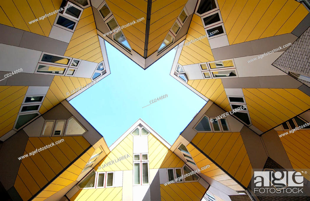 Stock Photo: Cubic Houses (Kubuswonig, Kijk-Kubus) by Piet Blom. Rotterdam. Netherlands.