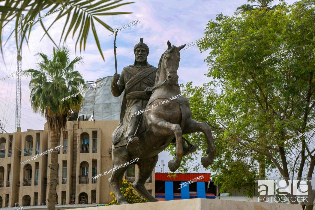 Baghdad Iraq Photo For Antar Bin Shaddad Statue In Baghdad City In Iraq Stock Photo Picture And Rights Managed Image Pic Z5d 3527506 Agefotostock