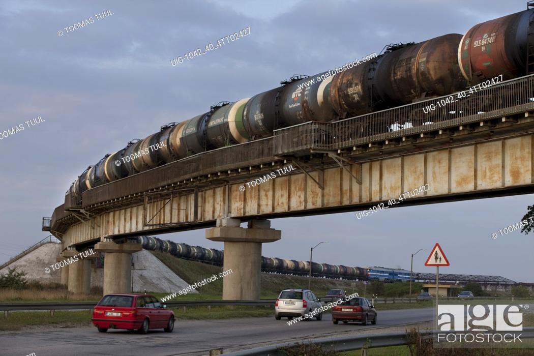 Stock Photo: Railway in Iru, Tallinn.