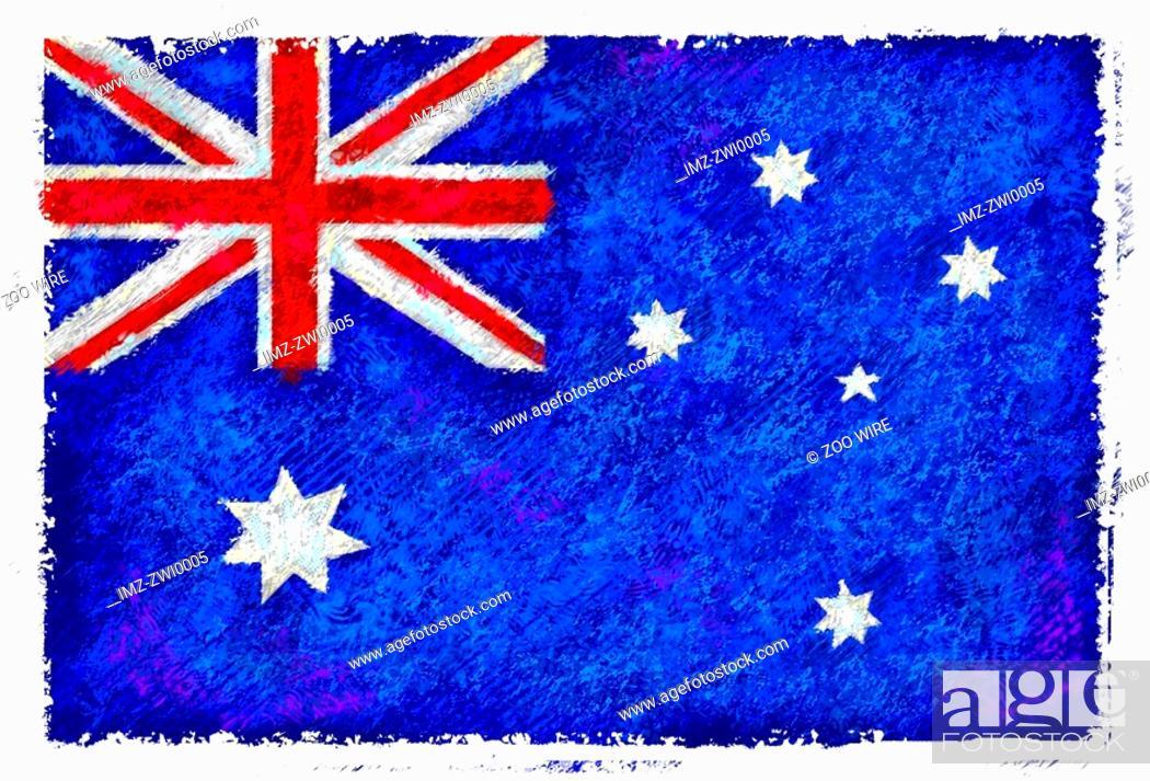 Stock Photo: Flag of Australia.