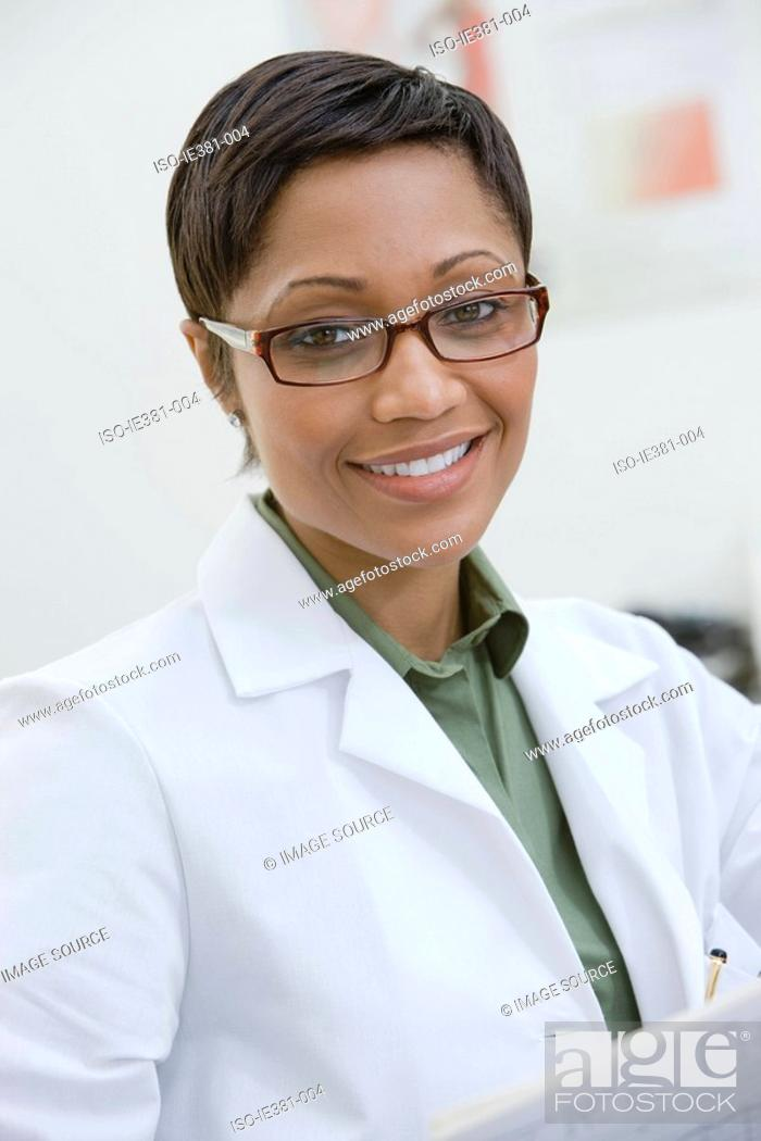 Stock Photo: Portrait of a female doctor.