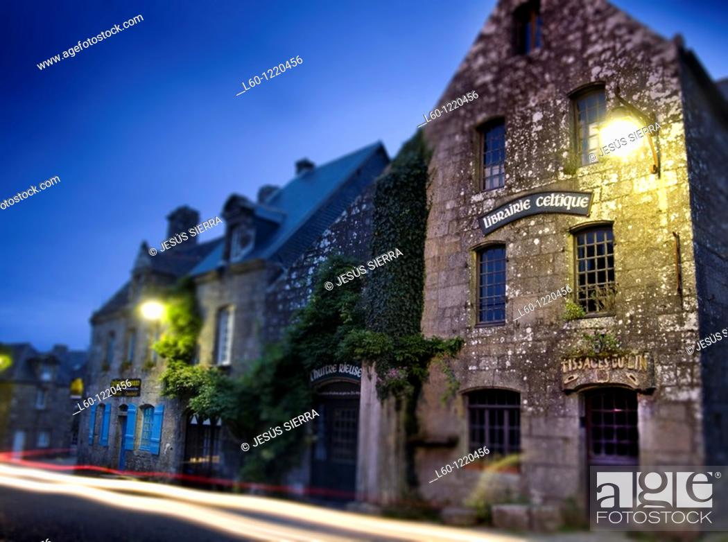 Stock Photo: Locronan Finistère department in Bretagne in northwestern France.