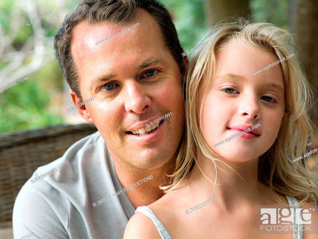 Stock Photo: Father and daughter, portrait.