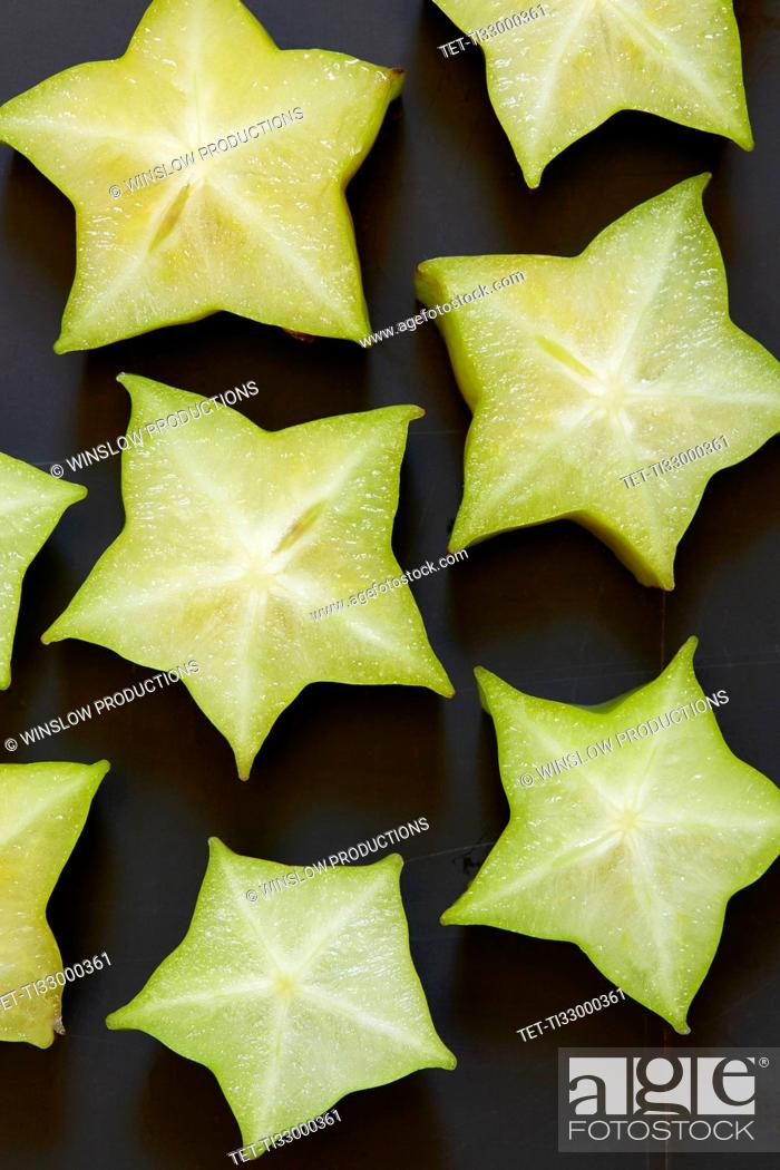 Stock Photo: Star shapes of fruits.