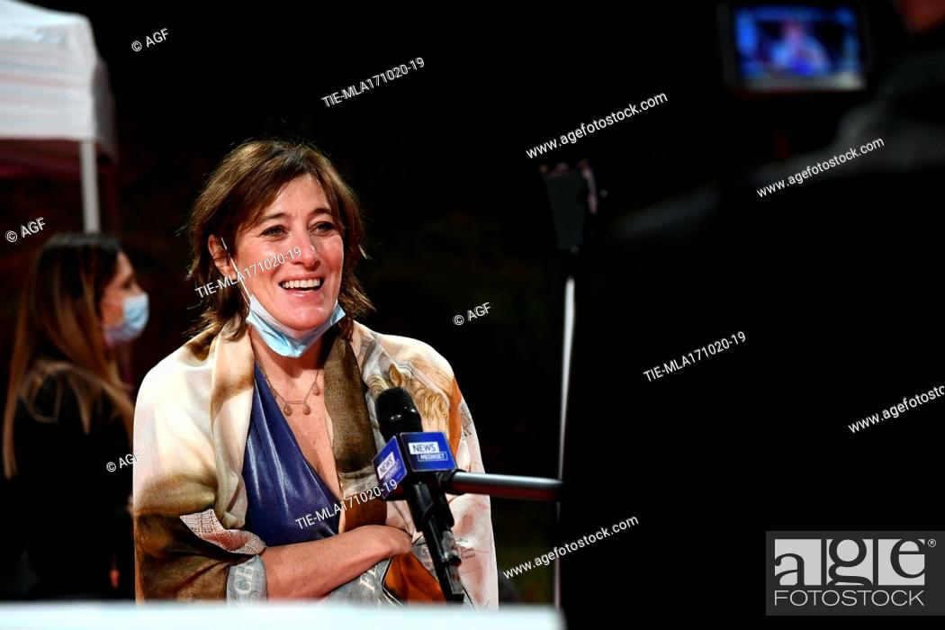 Stock Photo: Valeria Bruni during the 15th Rome Film Festival on October 17, 2020 in Rome, Italy.
