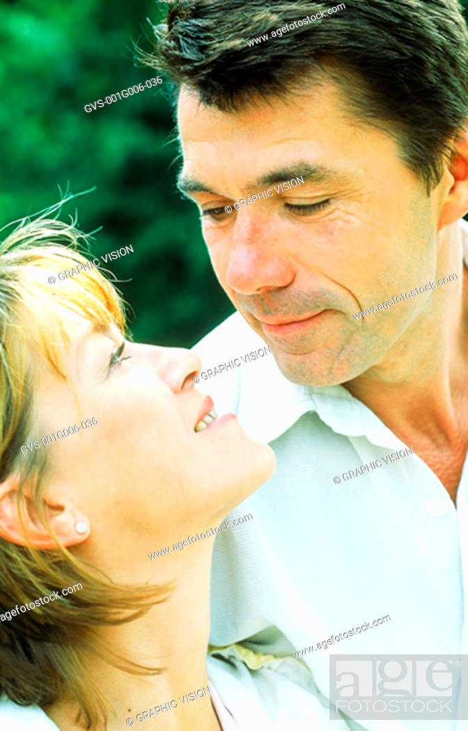 Stock Photo: Close-up of a man looking into a woman's eyes.