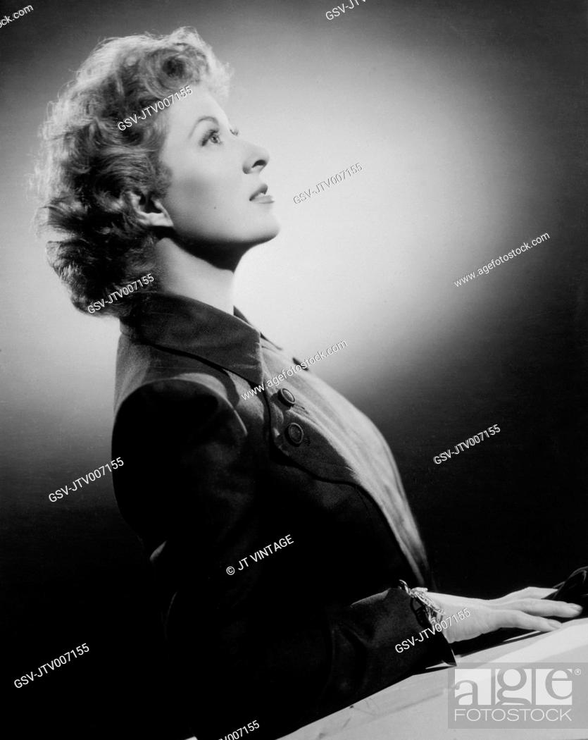 Actress Greer Garson Profile 1950 Stock Photo Picture And Rights