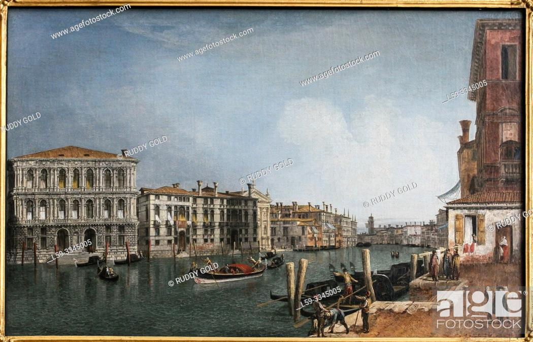 Imagen: 'View on the Canale Grande near the Cà Pesaro', 1730, by Michele Marieschi (1710-1744).