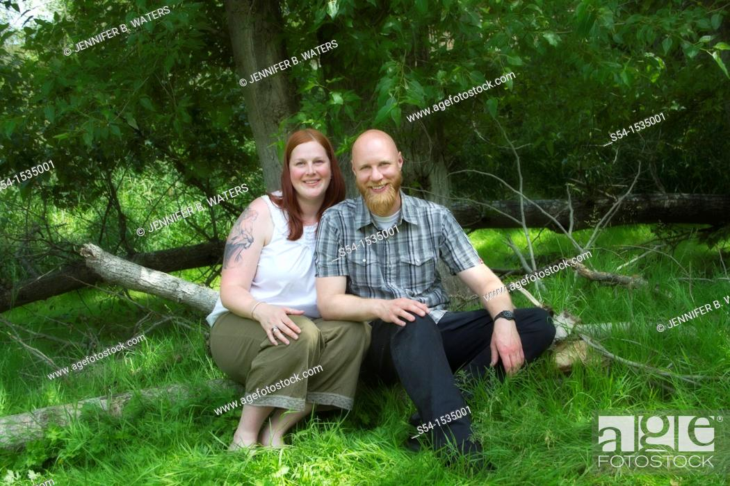 Stock Photo: A couple, 30-35 years, in Spokane, Washington, USA.