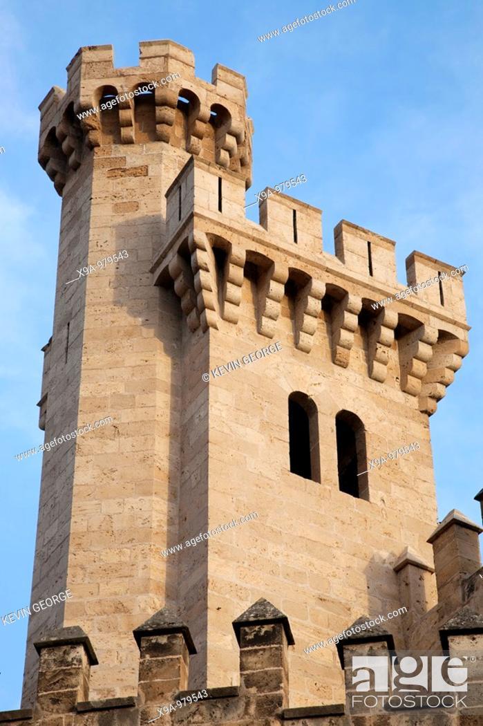 Stock Photo: Almudaina Palace Walls, Palma de Mallorca, Spain.