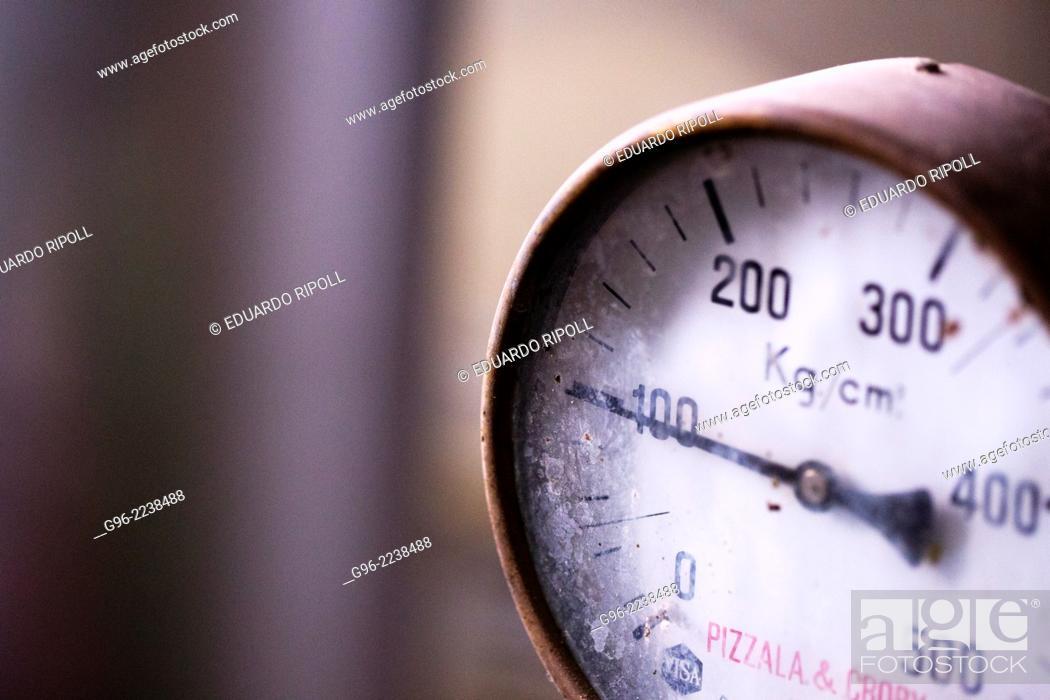 Stock Photo: pressure meter.