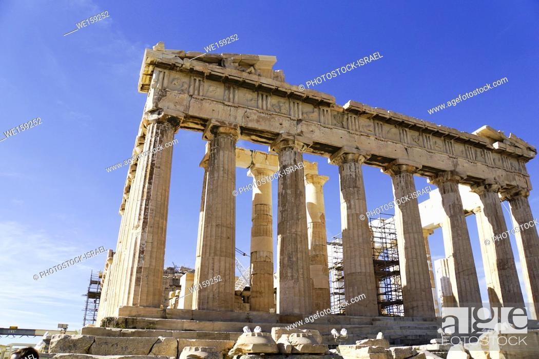 Stock Photo: The Propylaia (main entrance), Acropolis, Athens, Greece, UNESCO word heritage site.