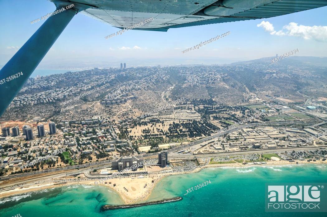Stock Photo: Aerial Photography of Haifa, Israel.