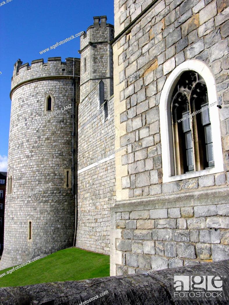 Stock Photo: Windsor Castle Largest Inhabited In The World Berkshire England United Kingdom.