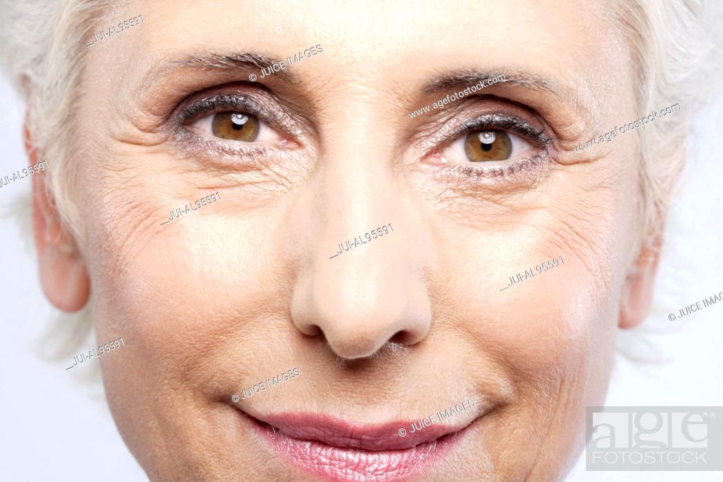 Stock Photo: Close-up of senior woman's face.