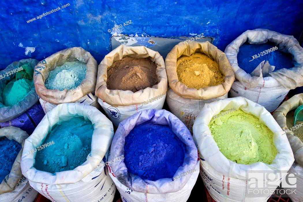 Stock Photo: Morocco, Chefchaouen, natural colors.