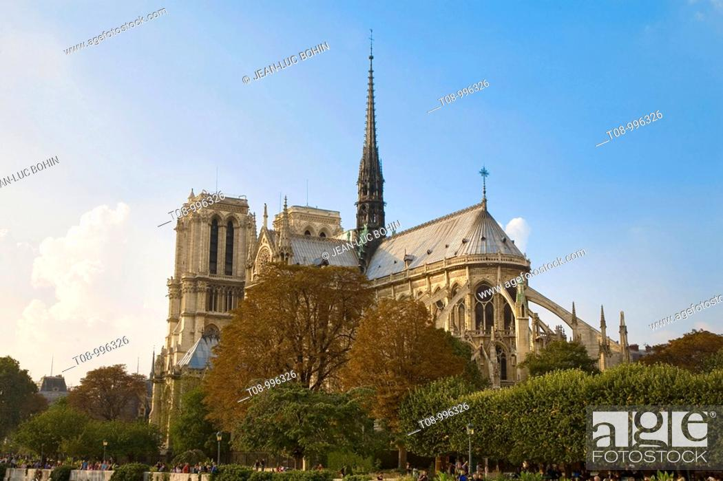 Imagen: france, paris, Notre Dame, façade sud.