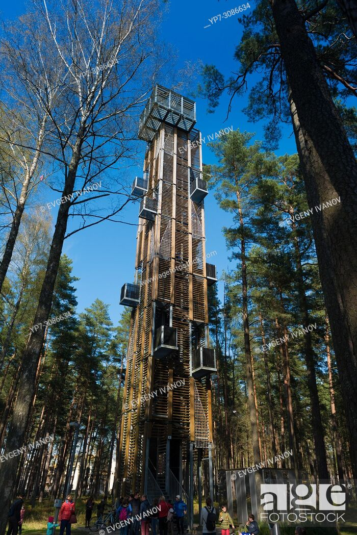 Stock Photo: Tower in Dzintari park, Jurmala, Latvia.