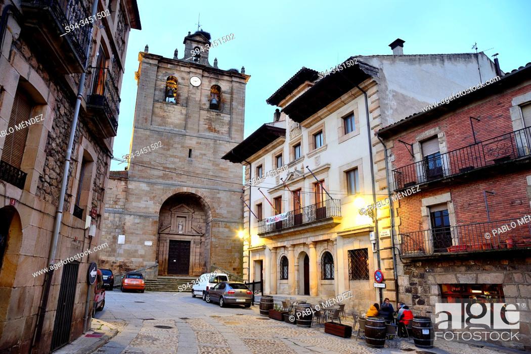 Stock Photo: Church of Nuestra Señora del Pino, Vinuesa, Soria, Spain.