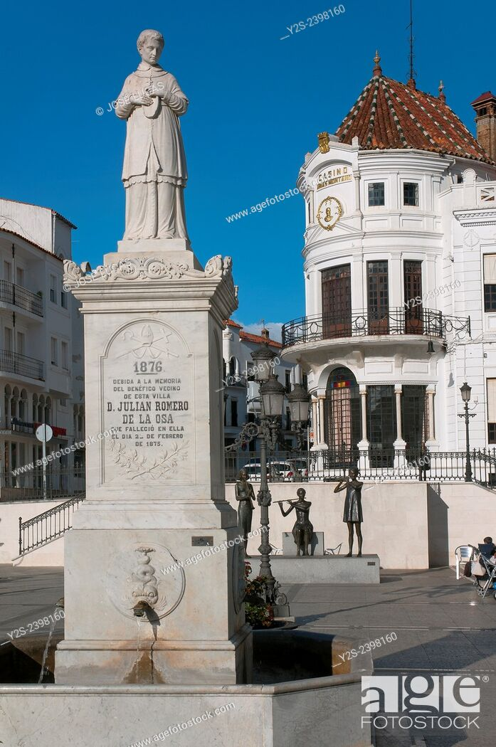 Stock Photo: Marques de Aracena square, Aracena, Huelva province, Region of Andalusia, Spain, Europe.