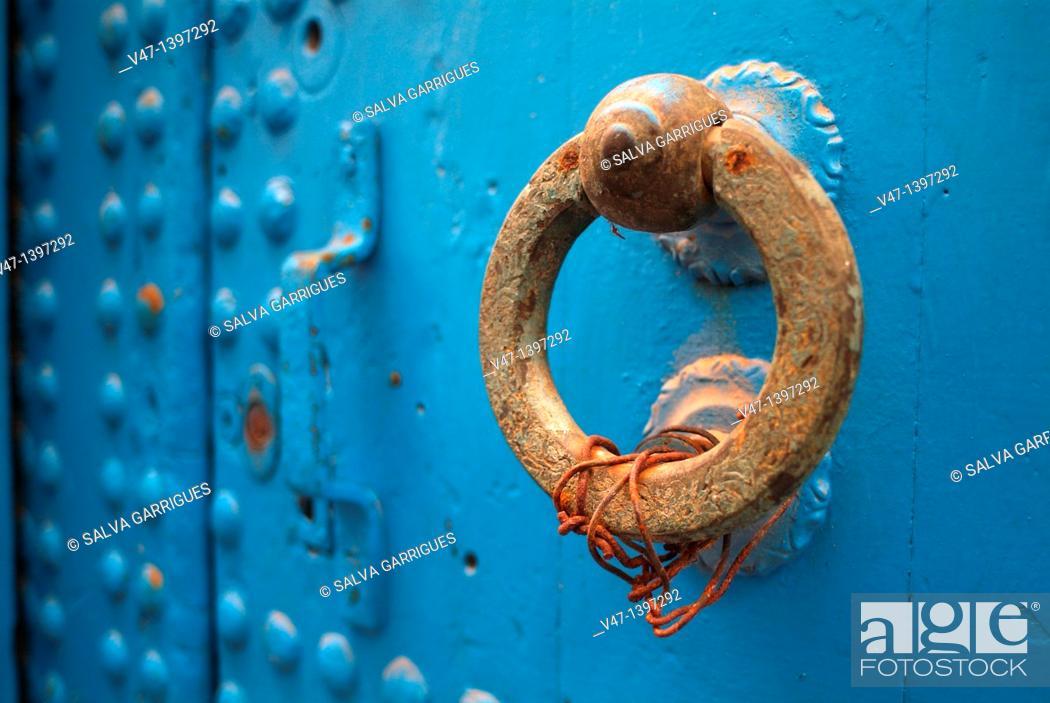 Stock Photo: knocker, Larache, Morocco.