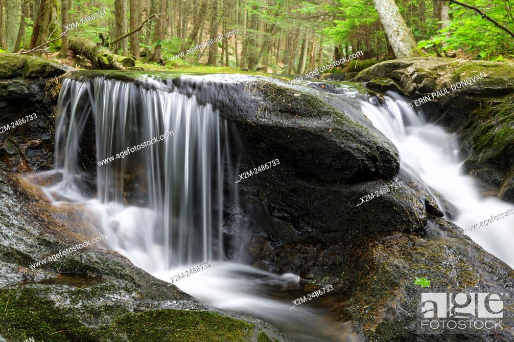 Stock Photo: Bearcamp River in Sandwich Notch in Sandwich, New Hampshire USA during the summer months. This river travels along the historic Sandwich Notch Road.
