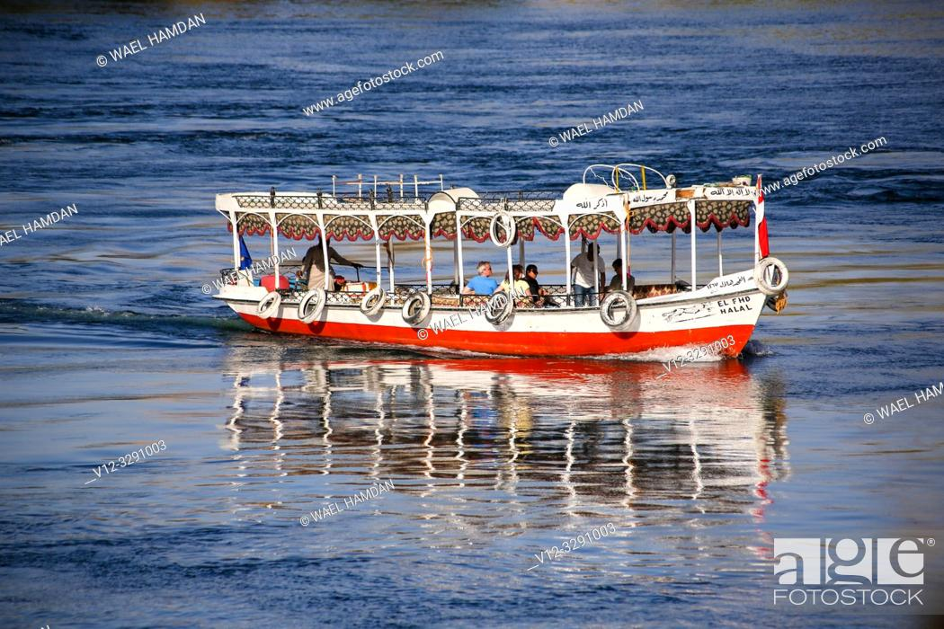 Stock Photo: Boat in Nile at Nubia , Egypt.