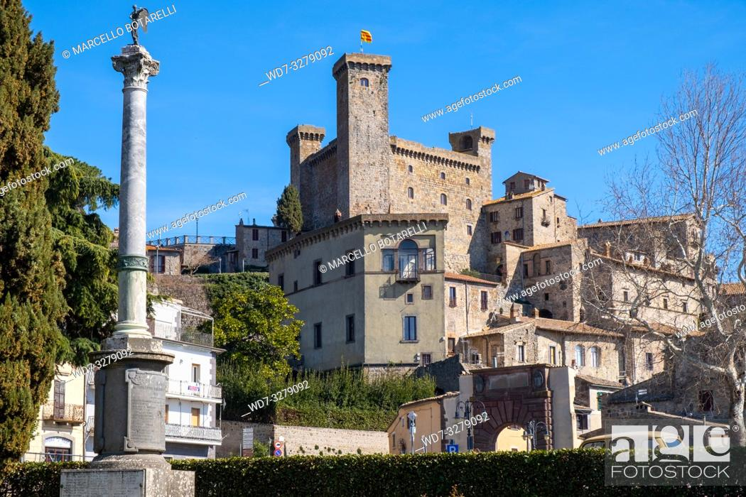 Photo de stock: View of Bolsena town, near Bolsena lake, in Lazio, Italy.