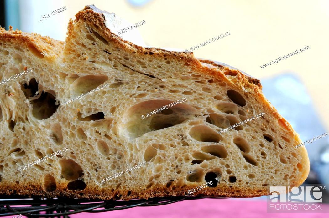 Stock Photo: Real bread campaign, Aveyron, Midi-Pyrénées, France.
