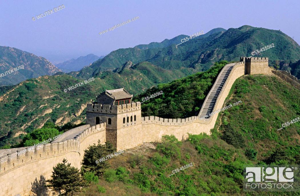 Stock Photo: Great Wall. Badaling. China.