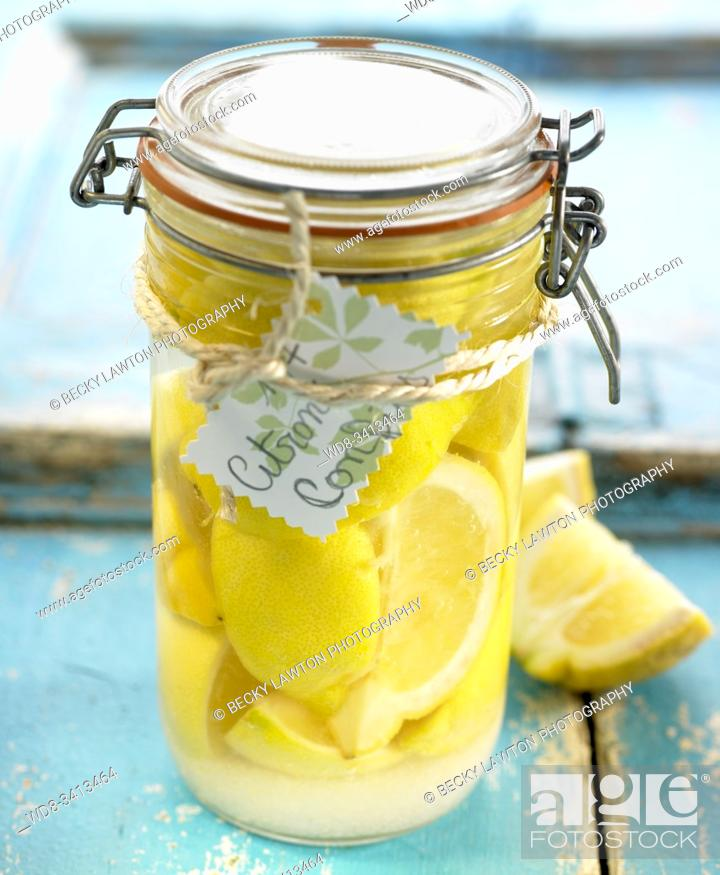 Stock Photo: Limones confitados / Candied lemons.