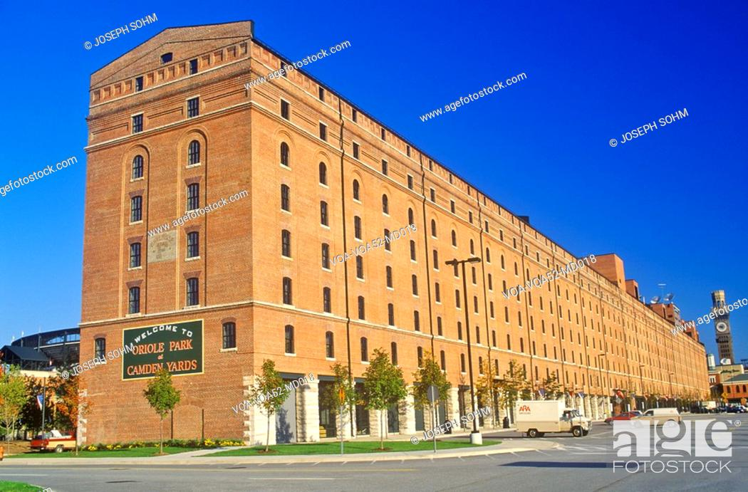 Stock Photo: Oriole Park at Camden Yards, Baltimore, Maryland.