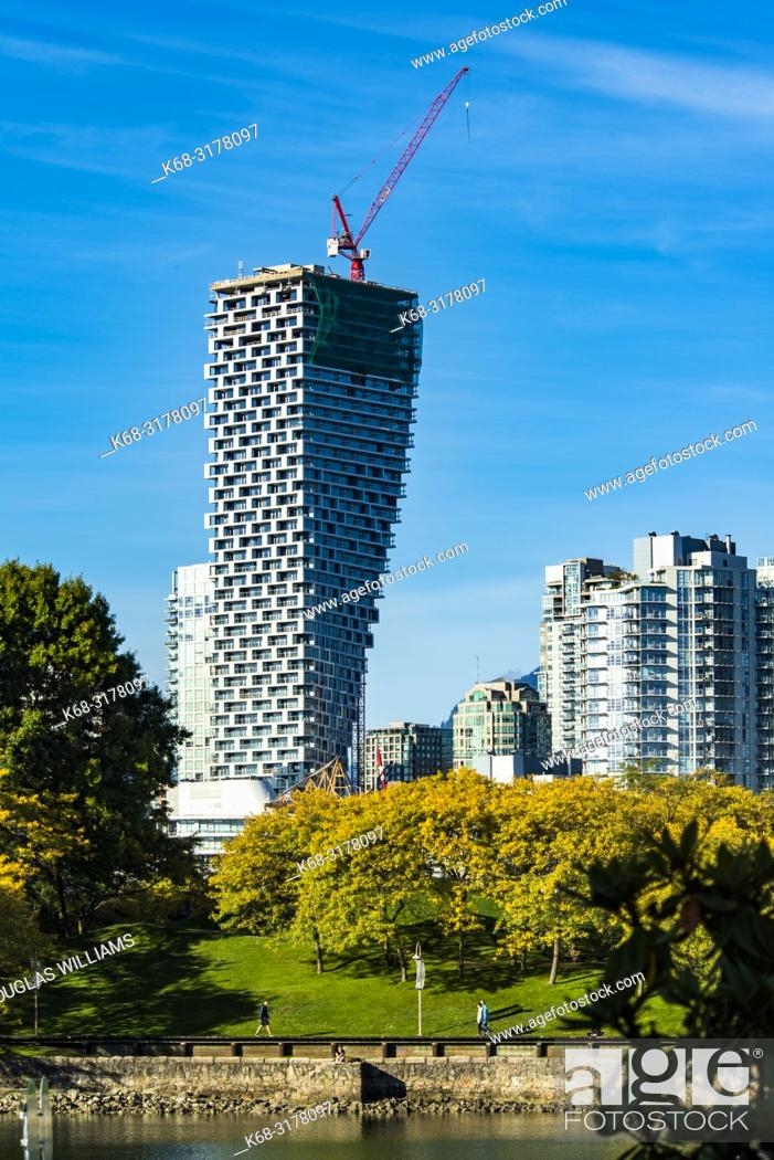 Stock Photo: Vancouver House, from False Creek, Vancouver, BC, Canada.