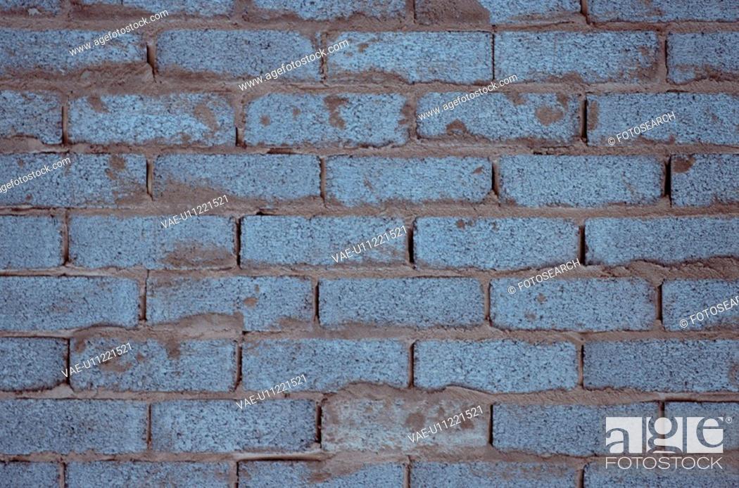 Stock Photo: Grey Brick Wall.