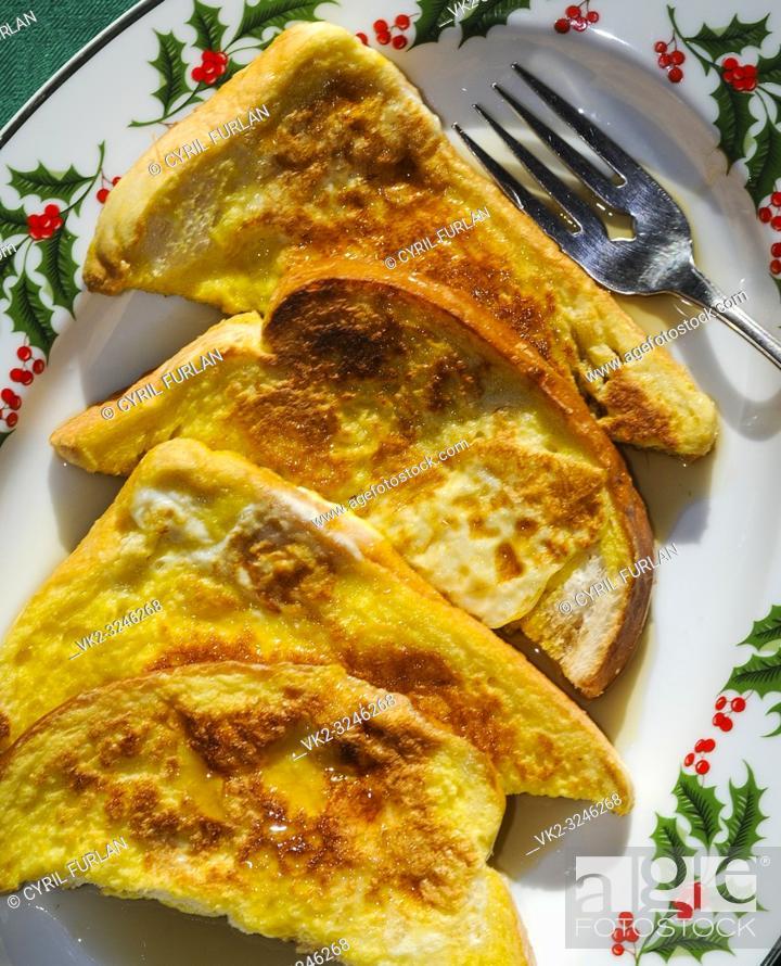 Stock Photo: French toast breakfast.