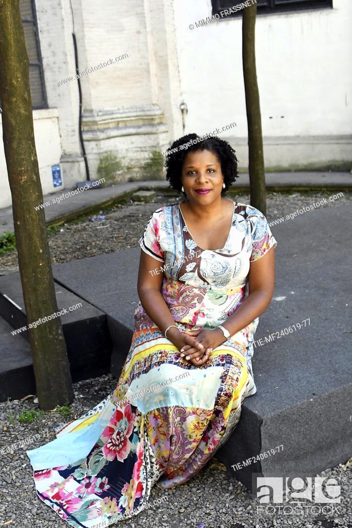 Stock Photo: The writer Tayari Jones attends at the 18th International Literature Festival, Rome, ITALY-24-06-2019.